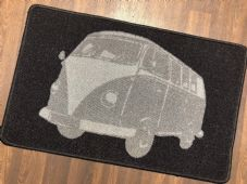NO SLIP DOORMAT 50X80CM GEL BACKING TOP QUALITY CAMPER DESIGN NEW COLOUR BLACK